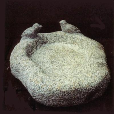 Granit til haven, figurer, vandsten, krukker, fulebade