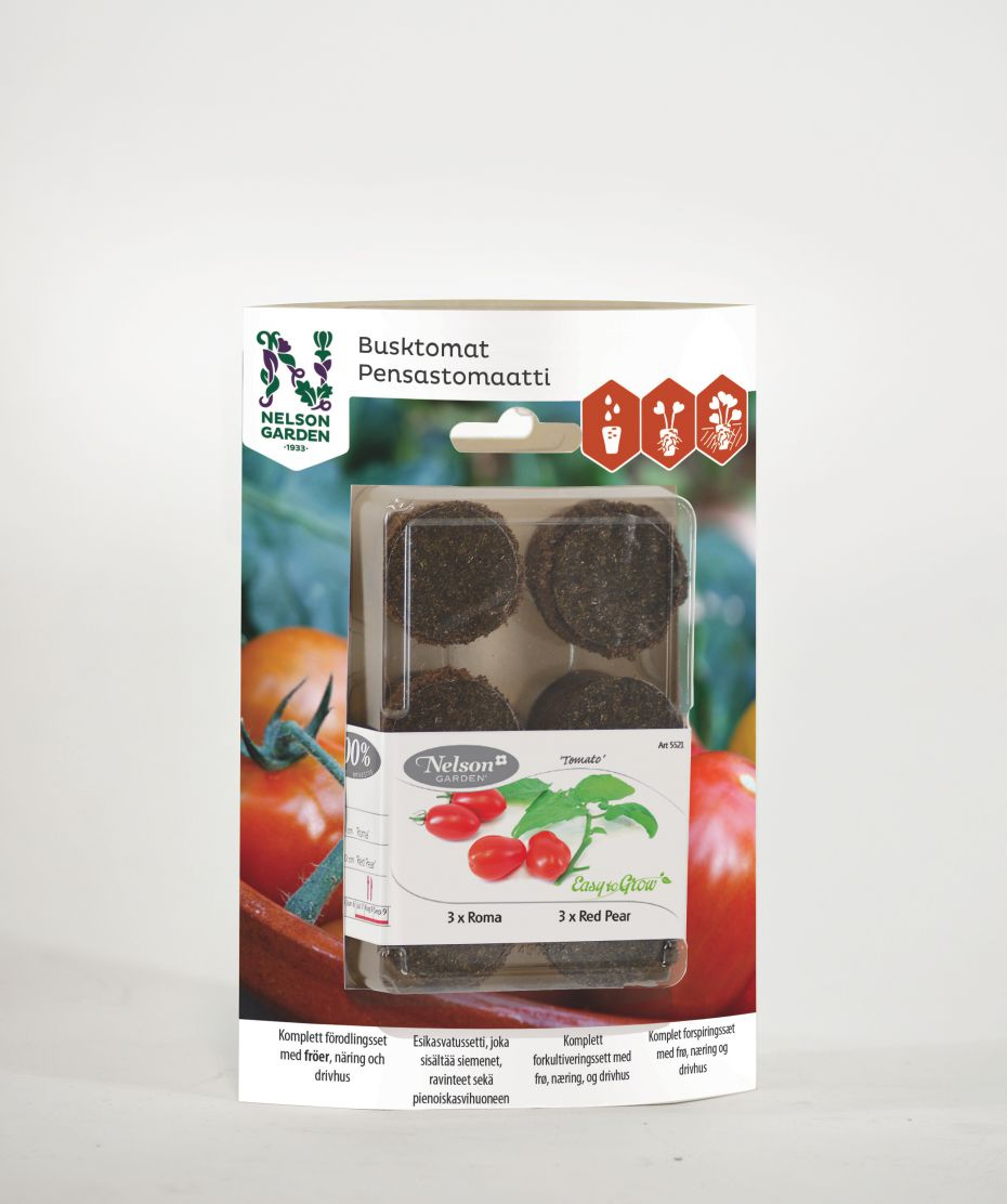 Image of   Easy to grow - Busktomat Roma og Red Pear - Easy to grow -...
