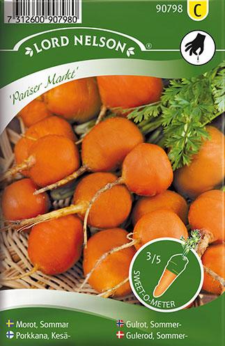 Gulerod, Sommer-, Pariser Markt - Daucus carota L