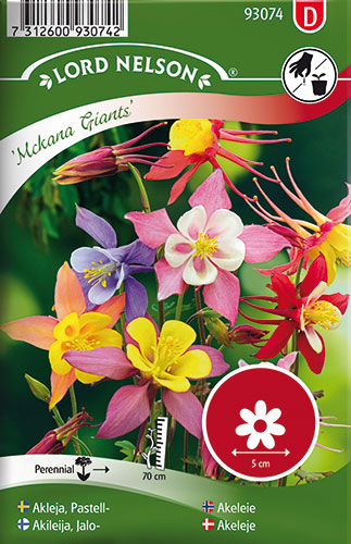 Image of   Akeleje, Have-, Mckana Giants, bl.farver - Aquilegia × cultorum