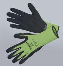 Image of   Comfort, grøn - sort - Tynd og smidig nylonhandske - Comfort,...