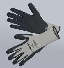 Image of   Comfort, grå - sort - Tynd og smidig nylonhandske - Comfort,...