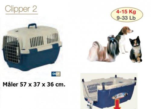 Transportkasse til hund/kat Clipper 2 Blå/Beige, Kæledyr - Transportkasse til hund/kat Clipper 2 Blå/Beige, Kæledyr