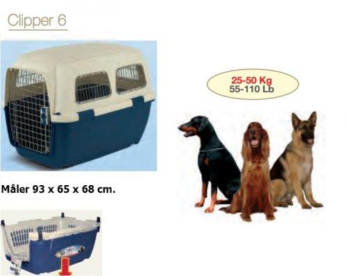 Transportkasse til hund/kat Clipper 6 Blå/Beige, Kæledyr - Transportkasse til hund/kat Clipper 6 Blå/Beige, Kæledyr