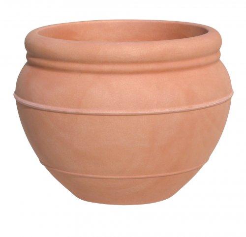 Carmen  Runde krukker Model 40 Terracotta - Carmen - Letvægtskrukker Carmen er en rigtig flot klassisk rund krukke. Carmen fås i farverne Terracotta eller Mocca farve. Flot krukke der kan bruges ude, på træterrasser og lignende. - Der kan monteres hjul under hvis dette ønskes. Carmen  Runde krukk
