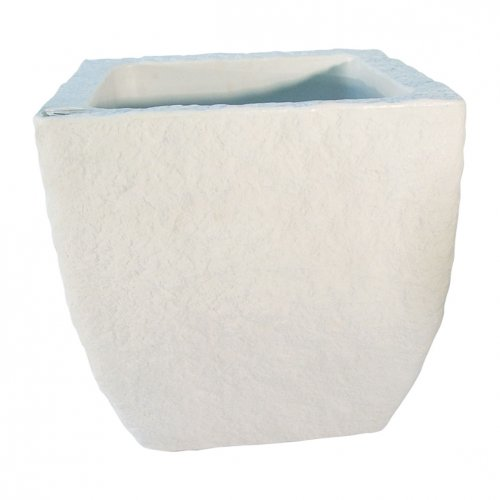 Eiger - Selvvandende krukker Model 40 40 x 40 cm firkantet Hvid - Eiger - Krukker med indbygget selvanding Ny smart serie af krukker med indbygget selvvanding. Krukkerne fås i farverne hvid og grå og i 2 størrelser. Overfladen er patineret som giver krukkerne et flot naturligt look. Eiger - Selvvandende krukker Model 4