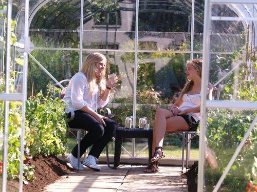 """Diana drivhuse Model 5000 Aluminium Glas, Drivhuse - """"Diana drivhus Diana er et kvalitetsdrivhus i samme flotte rundbuestil som Orion-serien. Diana drivhuset findes i flere store størrelser, og er derfor helt ideel for haveejeren med store ambitioner, som kan lide at have plads omkring sig. Rundbuestilen sk"""