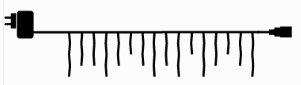 Julebelysning Sirius Top-Line Is Krystal Start sæt, Juleprodukter - Julebelysning fra Sirius Top-Line  Du kan med Sirius Top-line sammensætte din helt egen julebelysning med et utal af muligheder. Vælg mellem Is-krystal - gardiner eller net som kan bruges til at inddække havens flotte planter.  I en serie kan man tilslu